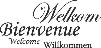 Tekststicker Welkom -