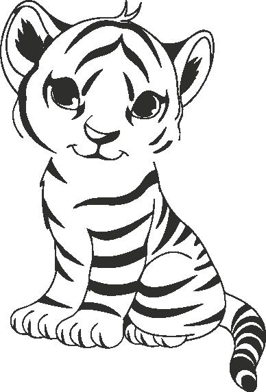 Muursticker baby tijger - Muurstickers : Sadora designs