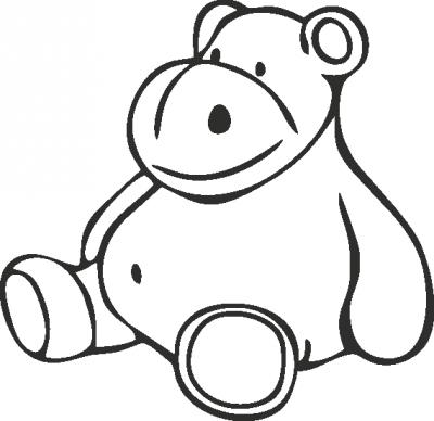 Muursticker teddy -