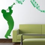 foto muursticker woonkamer muziek