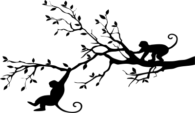 Woonkamer - slingerende aap  -