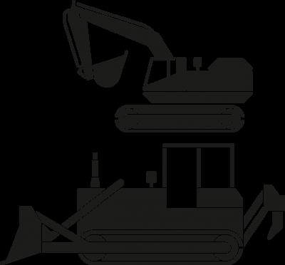 Kinderkamer - bulldozer -