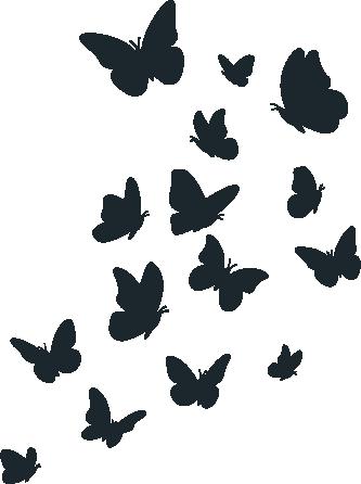 Kinderkamer - vlindertjes -