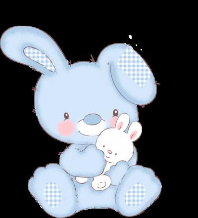 Kinderkamer- blauw konijn -