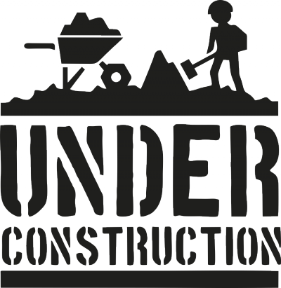 muursticker under construction -