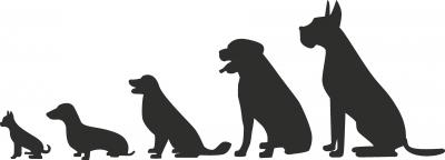 Muursticker honden -