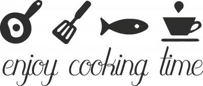 Muursticker enjoy cooking time -