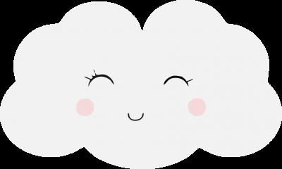 Kinderkamer - lachend wolkje - naam -
