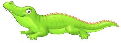 muursticker Safari dieren krokodil -