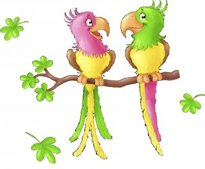 muursticker safari vogels -