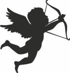 Wandsticker Cupido 4 - Muurstickers