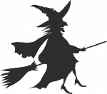 Muursticker oude heks - Muurstickers