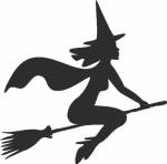 Muursticker jonge heks - Muurstickers
