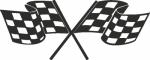 Muursticker race vlaggen - Muurstickers