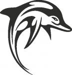 Muursticker dolfijn - Muurstickers