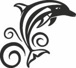 Muursticker Dolfijn 2 - Muurstickers