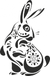 Muursticker konijntje - Muurstickers