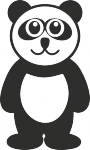 Interieursticker panda - Muurstickers