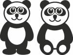 Muursticker panda beren - Muurstickers