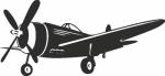 Muursticker Vliegtuig - Muurstickers