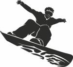 Muursticker snowboarder - Muurstickers