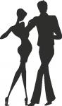 Muursticker dansers - Muurstickers