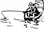 Muursticker visser - Muurstickers