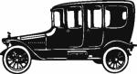 Muursticker oude auto - Muurstickers