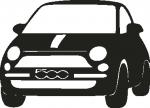Muursticker Fiat 500 - Muurstickers