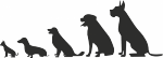 Muursticker hondjes - Muurstickers