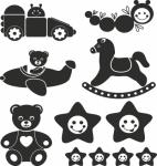 Muursticker speelgoed verzameling - Muurstickers