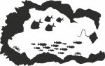 Muursticker zeegrot - Muurstickers