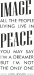 Tekststicker John Lennon - Muurstickers