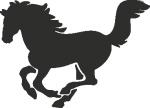 Muursticker paardje - Muurstickers