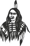 Muursticker indiaan - Muurstickers