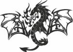 Muursticker Draak 6 - Muurstickers