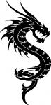 Decoratiesticker Draak 8 - Muurstickers
