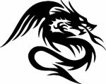 Wandsticker Draak 9 - Muurstickers
