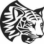 Muursticker tijgerkop - Muurstickers
