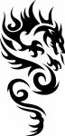 Wandsticker Draak 3 - Muurstickers