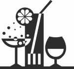 Muursticker cocktails - Muurstickers