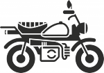 Muursticker motor - Muurstickers