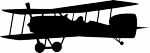 Muursticker vliegtuig dubbeldekker - Muurstickers