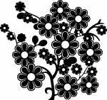Muurstickers boom bloemen - Muurstickers