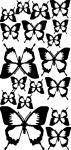 Muursticker vlinder uni - Muurstickers