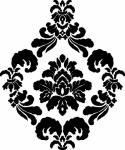 muursticker medaillon sabby 2 - Muurstickers