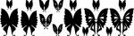 Interieursticker vlinder hart - Muurstickers