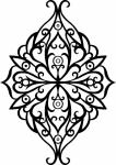 Muursticker medaillon 4 - Muurstickers