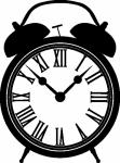 Wandsticker wekker - Muurstickers