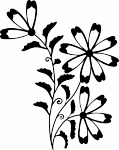 Muursticker bloempje - Muurstickers